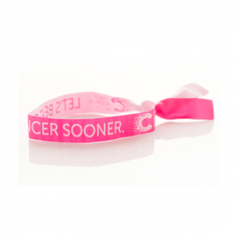 Pink Wristband, Cancer Research UK