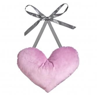 Post Surgery Heart Cushion in Purple Velvet