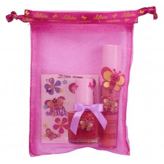 Lallabee Children's Nail Polish and Lip Gloss Gift Bag