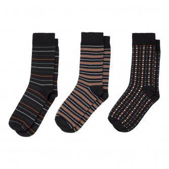 Men's 3 Pack Spots & Stripes Socks