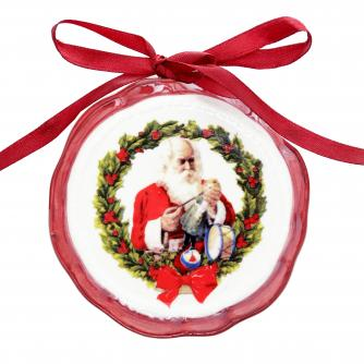 santa ceramic disk cancer research uk christmas gift