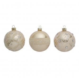 Pearl Oyster Christmas Baubles - Set of 3