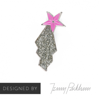 Jenny Packham Shooting Star Pin Badge, Cancer Research UK