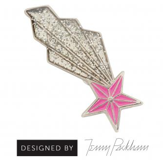 Shooting Star Pin Badge designed by Jenny Packham, Cancer Research UK