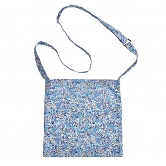 Shoulder Drain Bag in Purple Flower Print
