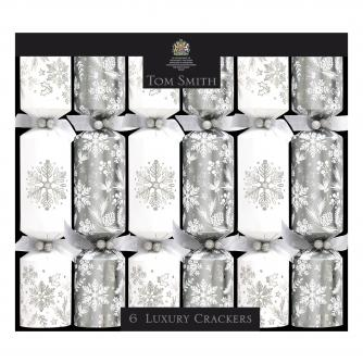 Silver and white luxury crackers, cancer research uk