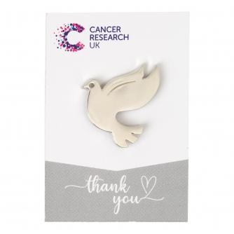 Silver Dove Pin Badge