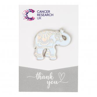 Silver Elephant Pin Badge