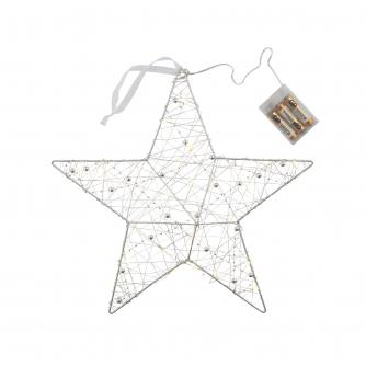 Silver LED Christmas Star Light