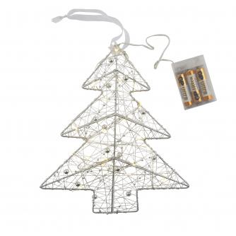 Silver LED Christmas Tree 3D Light