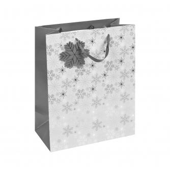 Silver Snowflakes Large Gift Bag