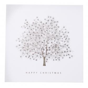 Sparkly Silver Tree Christmas Cards - Pack of 20