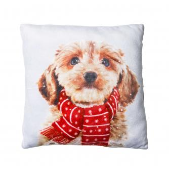 Small Winter Dog Cushion