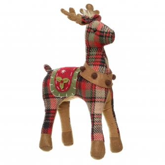 Reindeer Light Plaid Print Cancer Research UK Christmas Gift