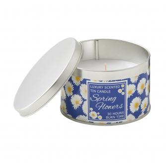 For Kate Blue Gerbera Tin Candle