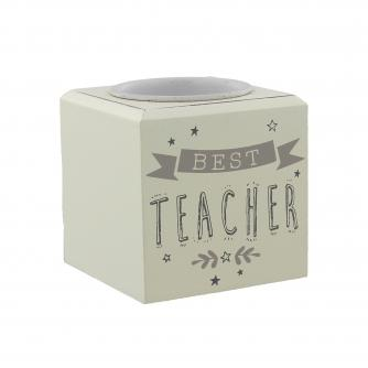 Cancer Research UK Online Shop, Thank You Teacher Gifts, T-light Candle Holder – Best Teacher