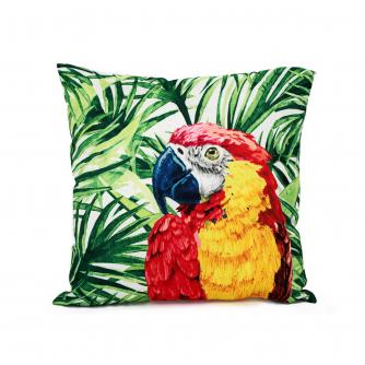 Tropical Parrot Cushion
