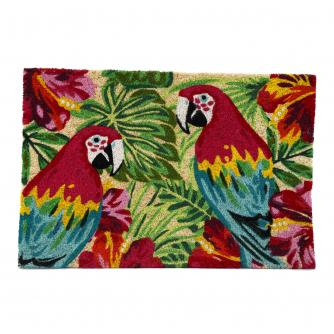 Tropical Parrot Doormat