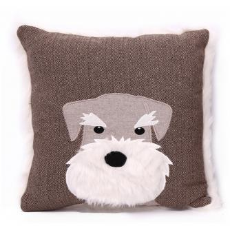 Scotty Dog Taupe Cushion