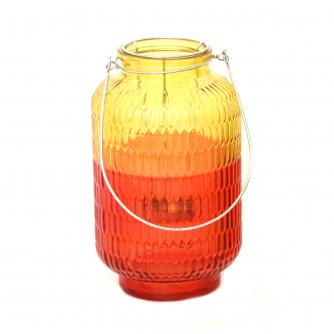 Two Tone Yellow Glass Lantern