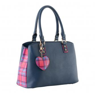 Cancer Research UK Tartan Handbag