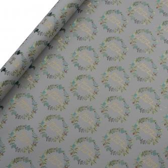 Tom Smith White Festive Foliage Wrapping Paper