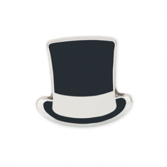 Top Hat Pin Badge, Cancer Research UK