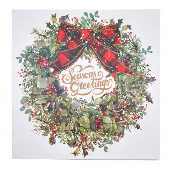 Traditional Wreath Christmas Cards - Pack of 10