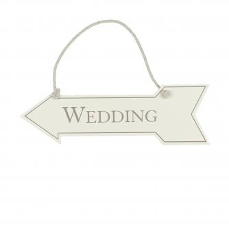 Hanging Arrow Wedding Sign, Wedding Gifts, Cancer Research UK