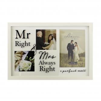 Mr Right & Mrs Always Right Frame, Wedding Gifts, Cancer Research UK