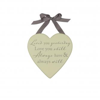 Loved You Yesterday Plaque, Wedding Gifts, Cancer Research UK