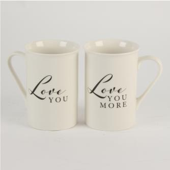 Loved You and Love You More Mugs, Wedding Gifts, Cancer Research UK