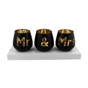 Mr & Mrs Tea Light Set, Wedding Gifts, Cancer Research UK