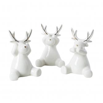 White & Gold 3 Wise Reindeers