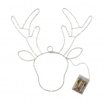 White LED Metal Reindeer Light