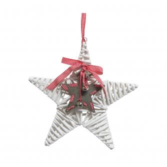 White Willow Star Decoration