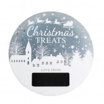 Winter Snow Globe Christmas Eve Plate
