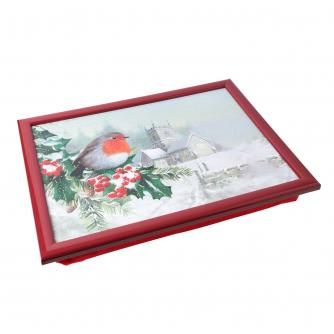 Winter Robin Lap Tray