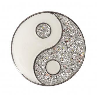 Glitter Ying & Yang Pin Badge
