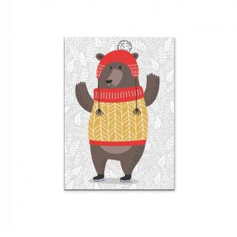 Holly Jolly Bear Christmas Card - Pack of 5