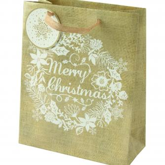 Hessian Effect Medium Landscape Cancer Research uk Christmas Bag
