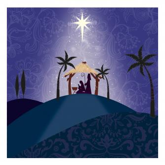 hill top nativity cancer research uk christmas card
