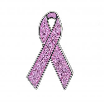 Light Ribbon Pin Badge Cancer Research UK