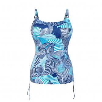 Anita Latina Swirl Pocketed Tankini Top in Multi