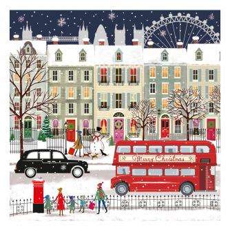 london bus cancer research uk christmas card