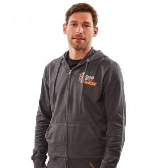 Mens Stand Up To Cancer Grey Hoodie