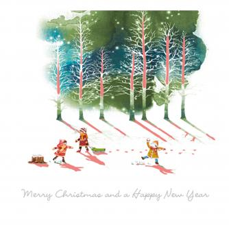 off sledging cancer research uk christmas card