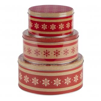 Nest of 3 Snowflake Tins
