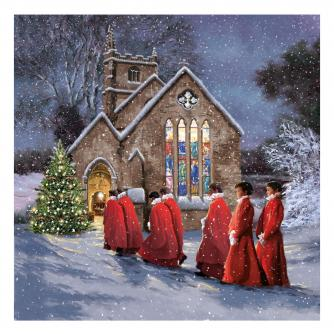 stunning choir cancer research uk christmas card
