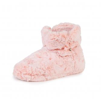 totes Fluffy Booties in Pink